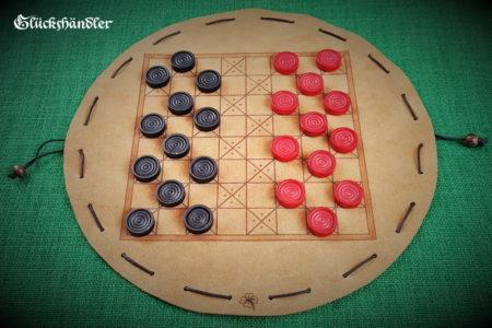 Baschni, Brettspiel aus Leder - Mittelalter