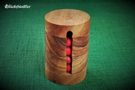 Kugelturm, Kugelpuzzle aus Holz