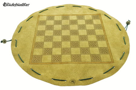 Schachbrett-Keltisch aus Leder als Beutelspiel