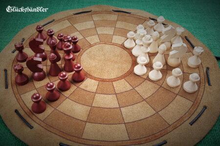 Byzantinisches Schach - klein mit Figuren aus Buchenholz