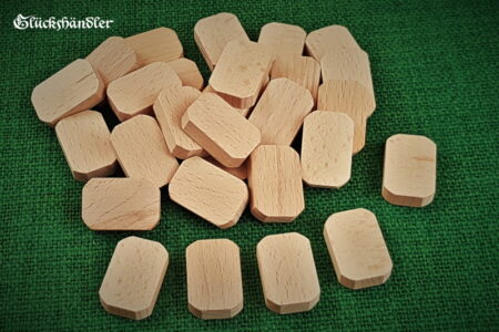 30 Runen-Rohlinge aus Holz