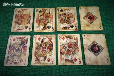 8 Spielkarten von Bicycle Vintage Karo & Pick