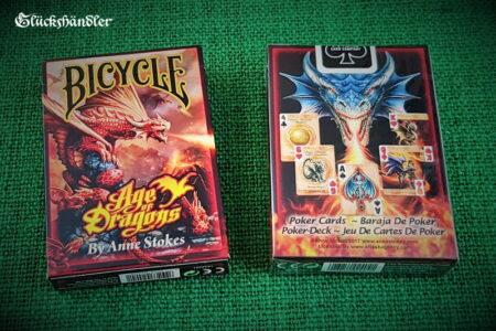 Spielkarten-Bicycle-Age of Dragons von Anne Stokes-Verpackung
