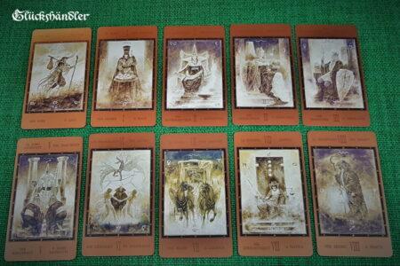 The Labyrinth Tarot von Luis Royo- Große Arkana 0-9