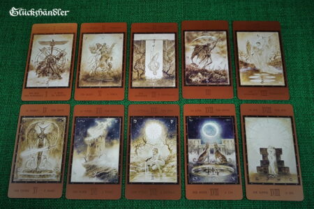 The Labyrinth Tarot von Luis Royo- Große Arkana 10-19