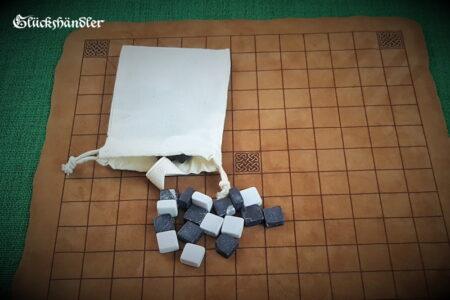 Hnefatafl-mit keltischem Muster-Spielsteine mit Stoffbeutel