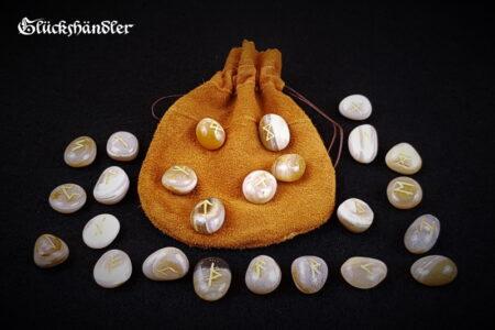 Runen-Orakel -Set - Achat mit Lederbeutel